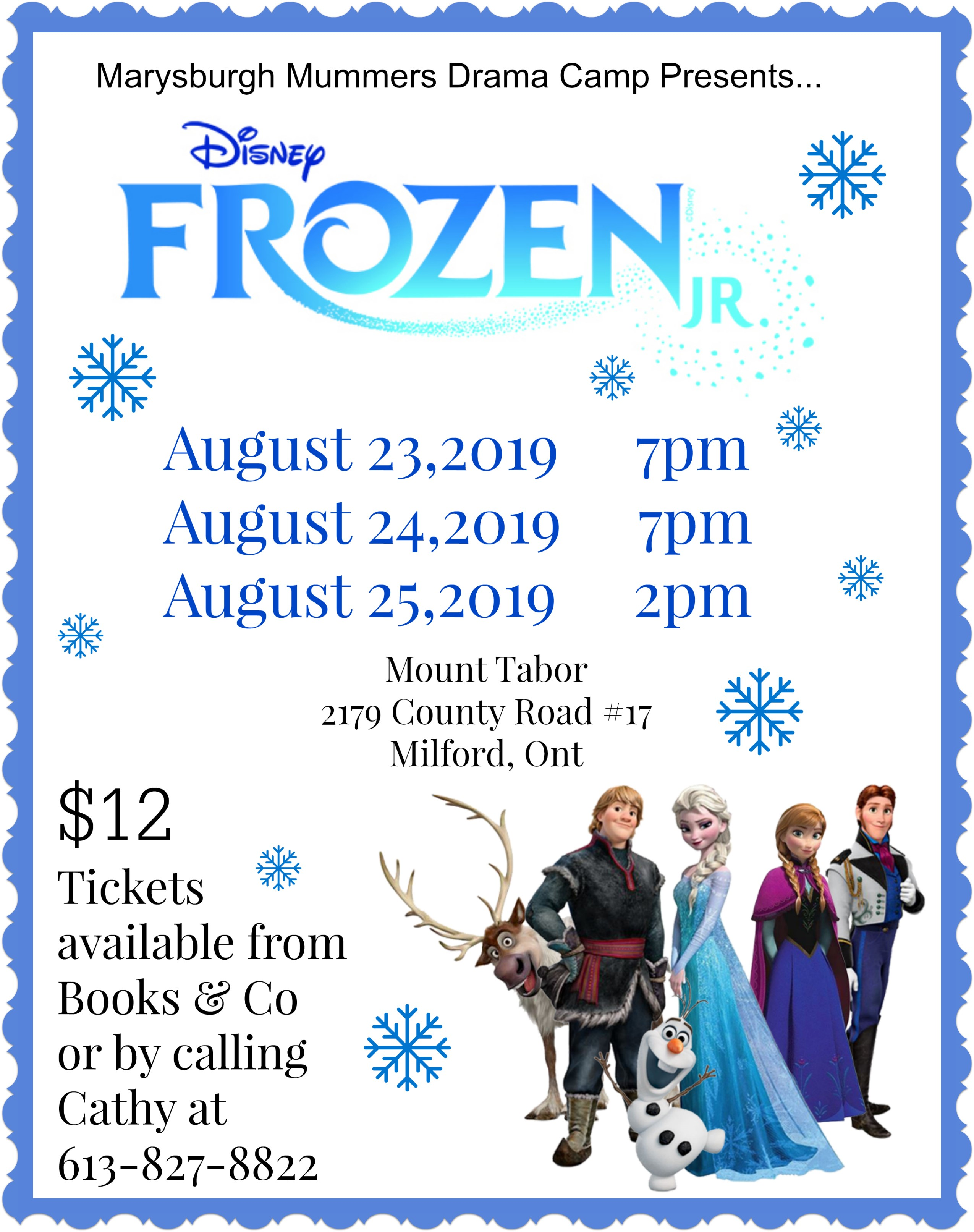 Frozen showbill